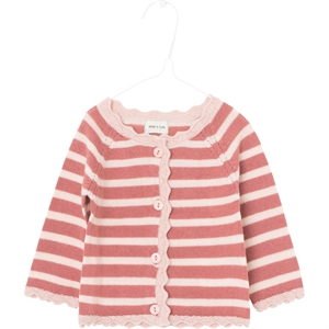 Mini A Ture - Viona Cardigan i merinould - Withered Rose