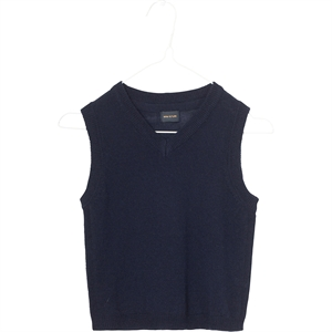 Mini A Ture - Robbi vest i merinould - Sky Captain Blue
