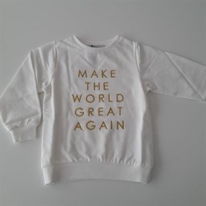 ByClaRa - Make the world great again sweatshirt - Ivory