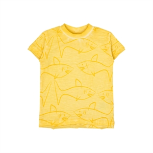 Hust&Claire - T-shirt med hajer - Citron