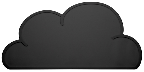 KG Design Sky cloud dækkeserviet dinner mat table mat sort black