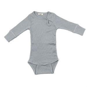 Minipop - Body med rib - Grey