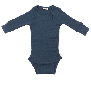 Minipop - Body med rib - Navy