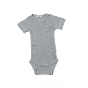 Minipop - Body S/S med rib - Grey