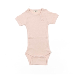 Minipop - Body S/S med rib - Rose