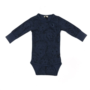 Minipop - Body med lionprint - Navy