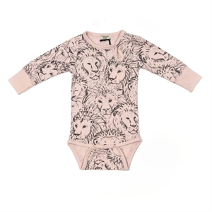 Minipop - Body med lionprint - Rose