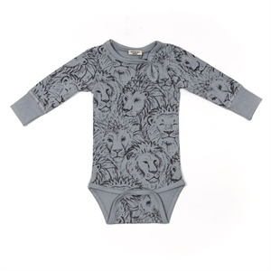 Minipop - Body med lionprint - Grey