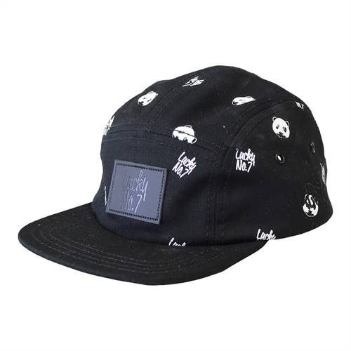 Lucky No.7 - Panda Cap - Black