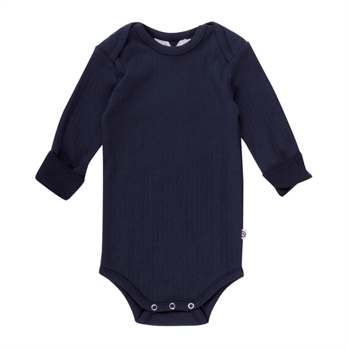 Müsli - Cozy Body l/s m. rib - Navy